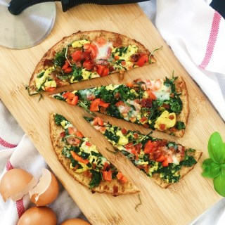 Spinach & Bacon Make-Ahead Breakfast Pizza Recipe