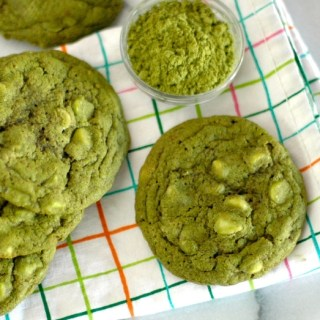 Green with Envy: Matcha & White Chocolate Chip Cookies
