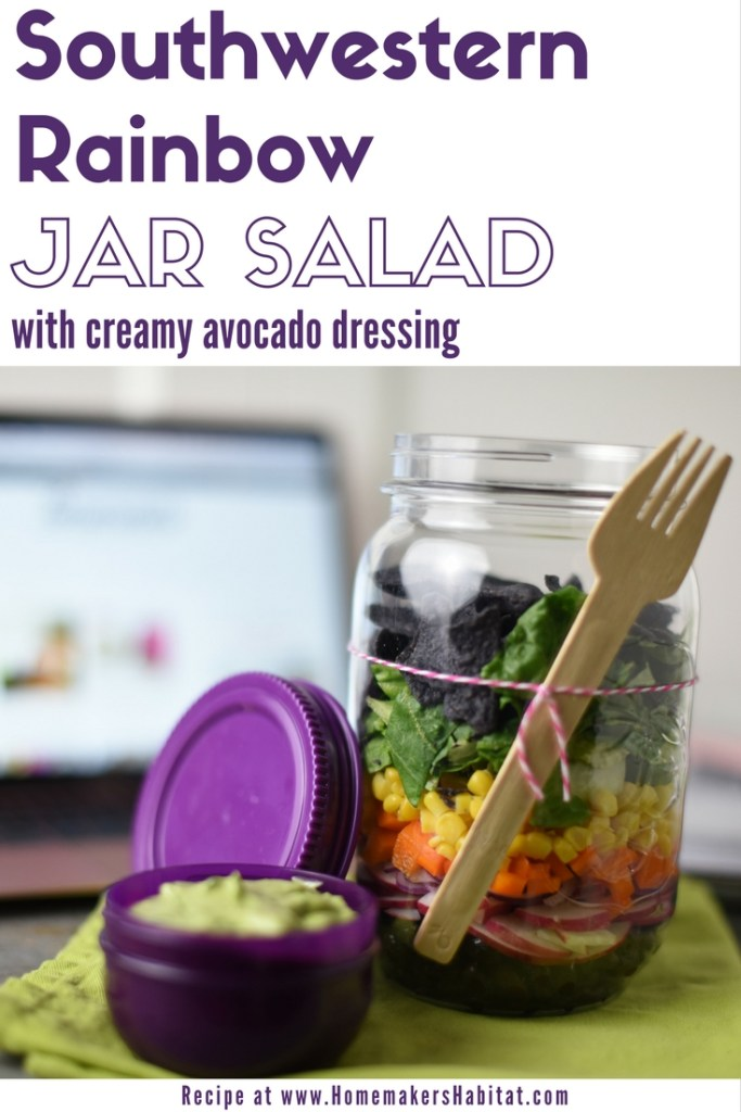 Southwestern Rainbow Jar Salad