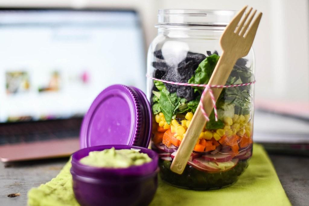 Southwest Rainbow Jar Salad