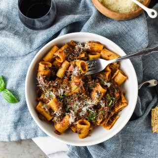 This Easy Rigatoni Bolognese is Unbelievably Hearty