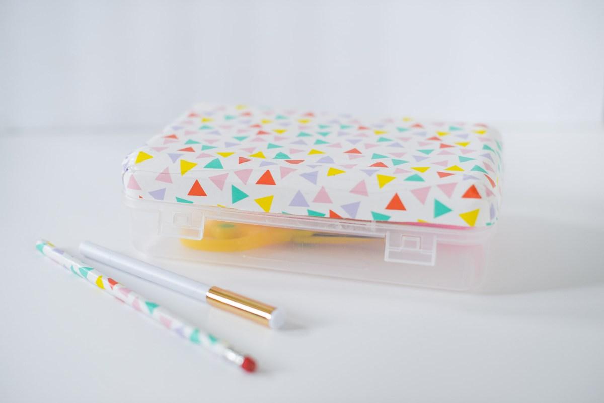 This Easy DIY Decoupage Pencil Box Makes Back to School Stylish
