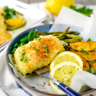 This Sheet Pan Fish and Chips is a healthier version of a restaurant favorite and a complete meal with the addition of blistered green beans. Ready in under an hour.