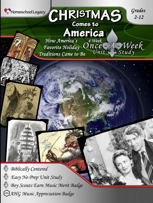 Review: Homeschool Legacy : Christmas Comes to America