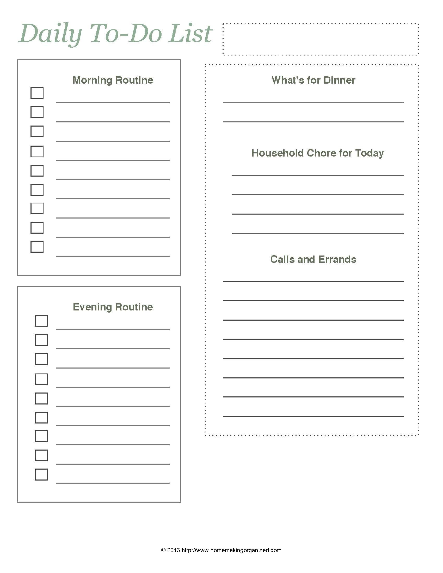 Time Management Printables
