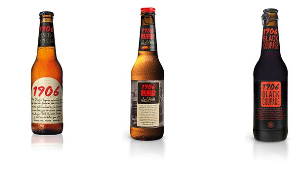 1906 red vintage e 1906 reserva especial da cervejaria espanhola