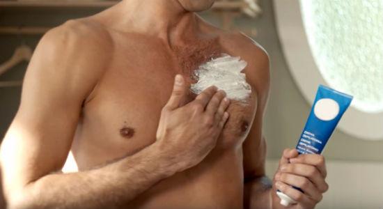 Homem No Espelho - Tipos de depilação masculina - Creme
