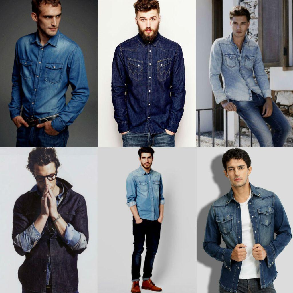 Homem No Espelho - Camisa jeans-4.
