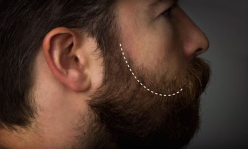 Como desenhar contornos da barba