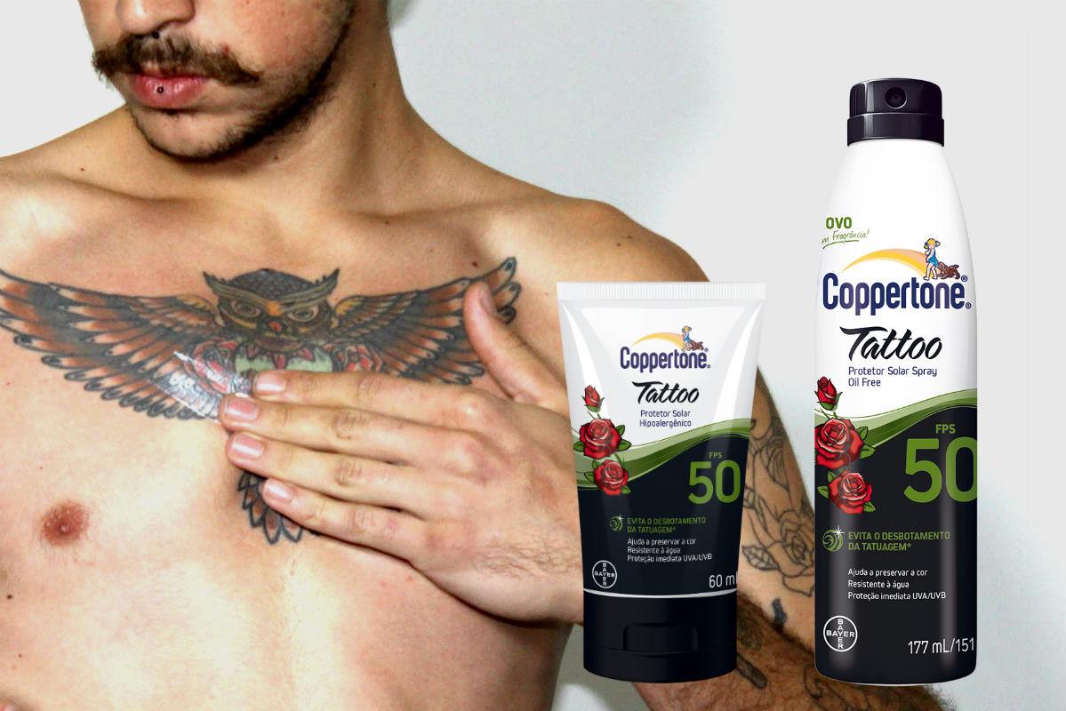 homem-no-espelho-copperttone-tattoo-protetor-solar