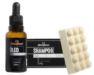 Loja Homem No Espelho - Kit com Shampoo Em Barra E Oleo Elite Para Barba Beard Brasil