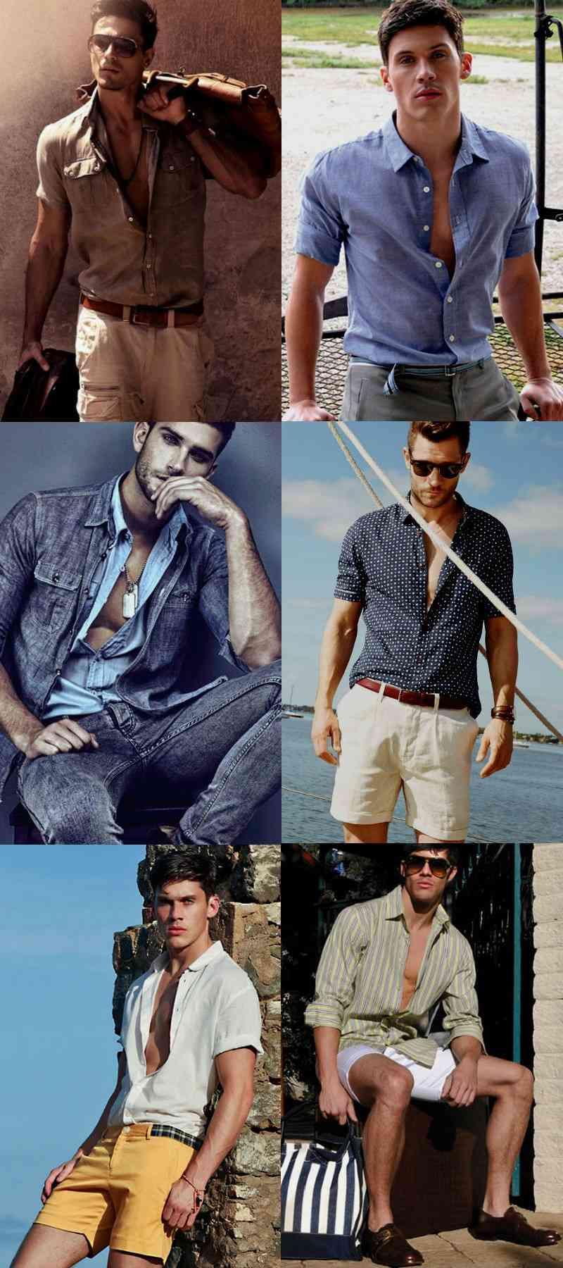 Homem No Espelho - colarinho de camisa - Como usar camisa masculina aberta e fechada