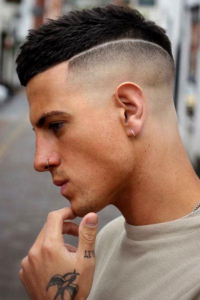 Cabelo masculino com risco - Homem No Espelho