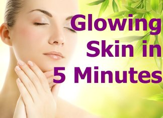 glowing skin home remedy treatement 5 minutes