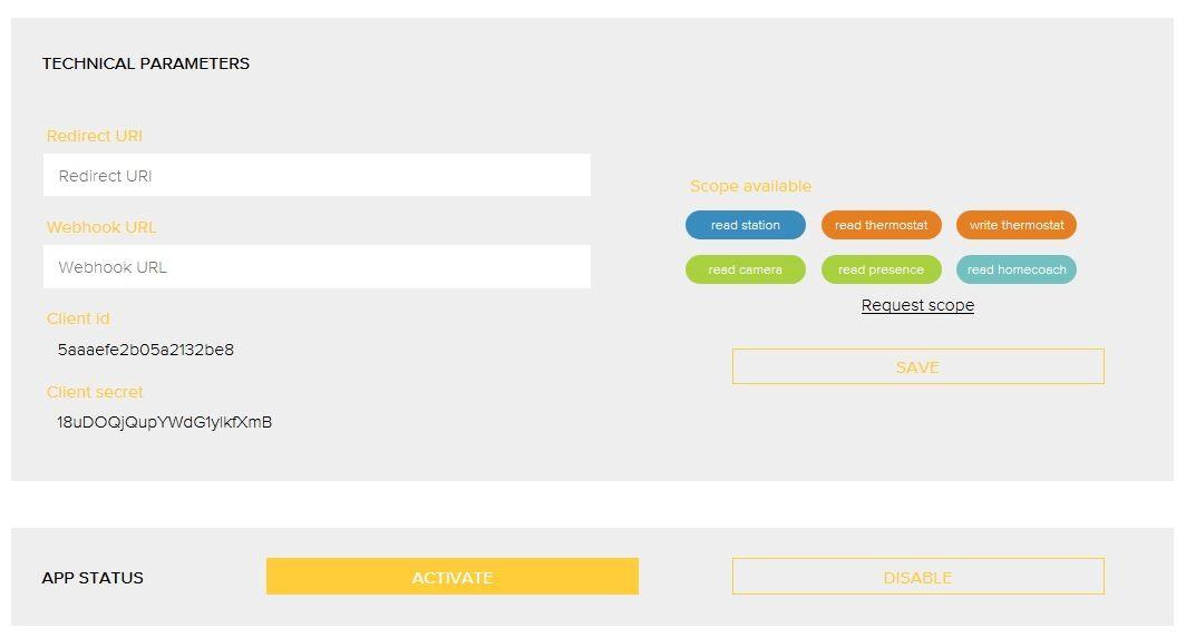 Etape 2 - Configuration du plugin Netatmo - API