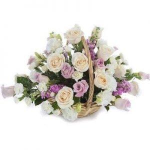 Pastel Rose Basket