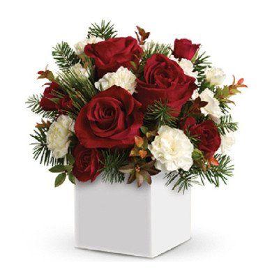 Festive Rose Arrangement - Christmas Flowers Leigh on Sea