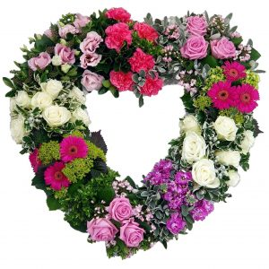 Grouped Heart Funeral Wreath