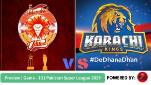 Pakistan Super League 2019 Match 13 Islamabad United vs Karachi Kings