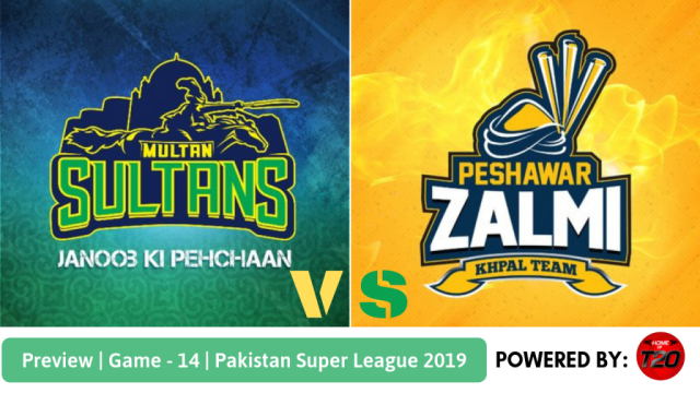 Pakistan Super League 2019 Match 14 Multan Sultans vs Peshawar Zalmi