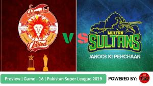 Preview: Pakistan Super League 2019, Match 16, Islamabad United vs Multan Sultans