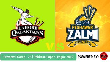 Preview: Pakistan Super League 2019, Match 25, Lahore Qalandars vs Peshawar Zalmi