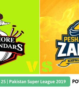 Pakistan Super League 2019 Match 25 Lahore Qalandars vs Peshawar Zalmi