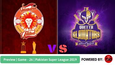 Preview: Pakistan Super League 2019, Match 26, Quetta Gladiators vs Islamabad United