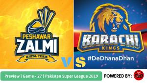 Pakistan Super League 2019 Match 27 Karachi Kings vs Peshawar Zalmi