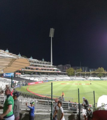 we are confident that tomorrow's T20 International will take place without any light interruptions