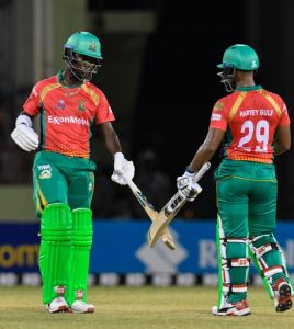 Pooran and Rutherford brutal hitting earns third win for Warriors