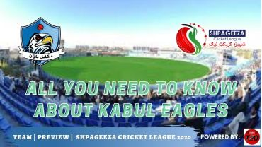Shpageeza Cricket League All you need to know about Kabul Eagles