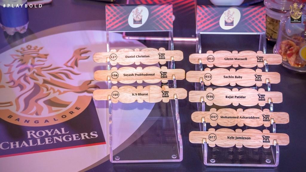 Royal Challengers Bangalore Squad for Indian Premier League 2021