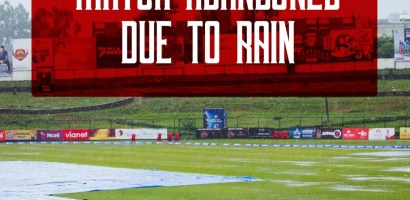 Rhinos and Gladiators match abandoned, they shared a point each