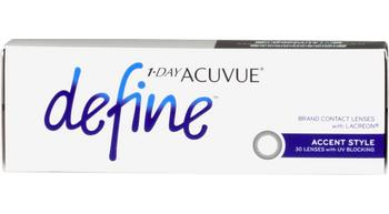 1-day acuvue define accent style 30 pk