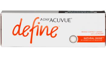 1-day acuvue define natural shine 30 pk