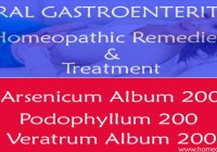 Viral Gastroenteritis Homeopathic remedies