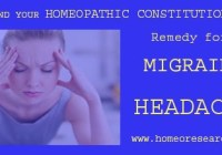 Homeopathy Migraine