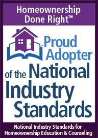 Adopter of National Industry Standards for Homeownership Education & Counseling