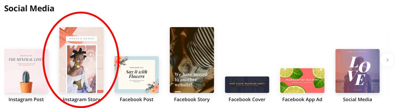 Canva Instagram create story highlight
