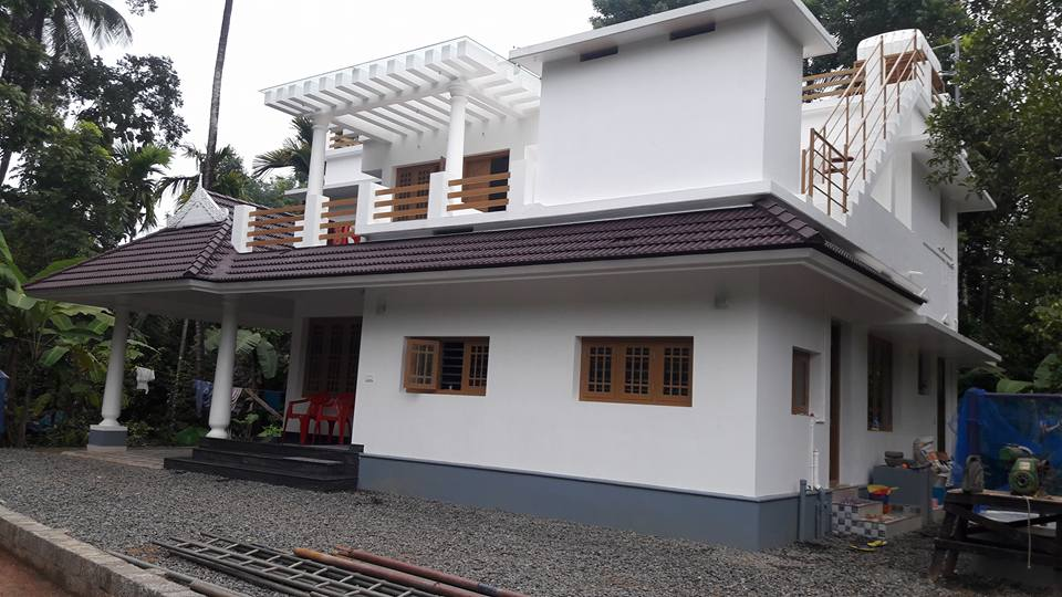 House plans 3 bedroom 2 bath french for Kerala house plans 1500 sq ft