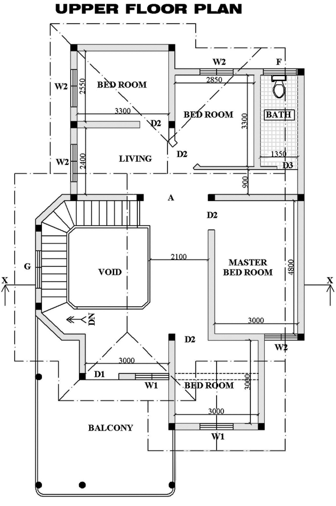 Square Feet Double Floor Kerala Home Design