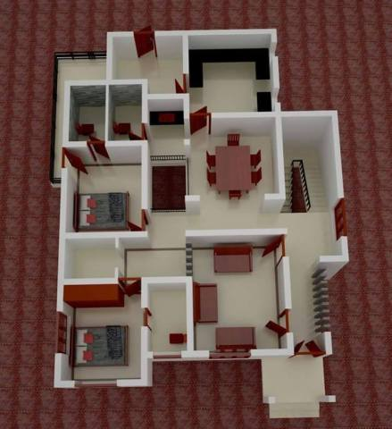 Low Budget Kerala Home Design With 3D Plan   Home Pictures Low Budget Kerala Home Design With 3D Plan  1