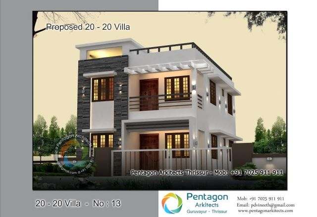 1382 Square Feet 3 Bedroom Low Budget Contemporary Modern ...