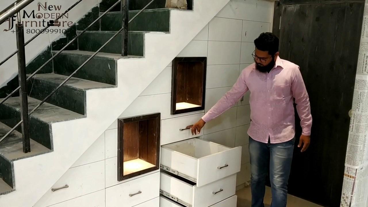 Modern Cupboard Storage Space Under Stairs Home Pictures | Modern Under Stairs Storage | Hallway Understairs Storage | Grey | Home Stair | Bajo | Minimal