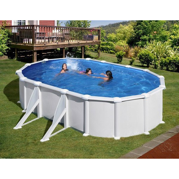 kit piscine hors sol acier ovale atlantis avec renforts apparents