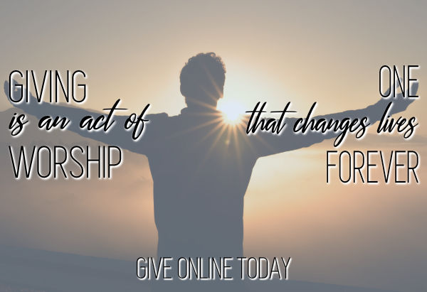Giving Is An Act Of Worship, Give Online Today