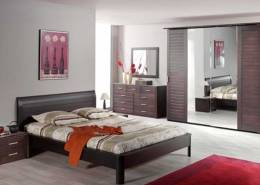 "BEDROOM ""Sphinx"" oak, wengé color (dark brown)"