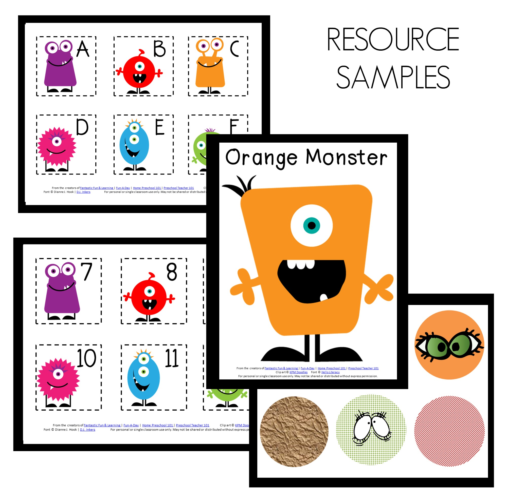 Monster Theme Home Preschool Lesson Plan