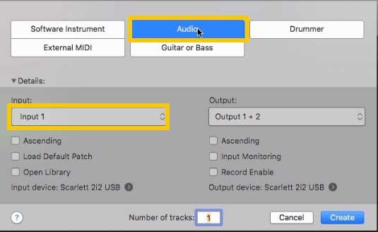 Tutorial Logic Pro X come inserire traccia audio 2